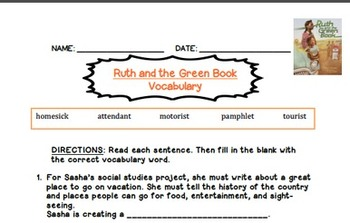 Ruth and the Green Book Lesson Plan and Prezi