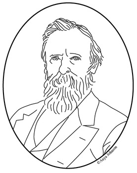 Rutherford B. Hayes (19th President) Clip Art, Coloring Page or Mini Poster