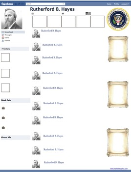 Rutherford B. Hayes Presidential Fakebook Template