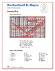Rutherford B. Hayes - Hidden Message Word Search and Fill in the Blanks
