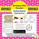 Rutina Diaria / Daily Routine Breakout EDU Puzzles