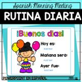 Rutina Diaria - Spanish Virtual Morning Meeting/Distance Learning