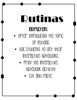 Rutinas Interactive Notebook