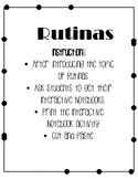 Rutinas Interactive Notebook