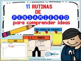 11 Rutinas de pensamiento PARTE 1 Español/ Indagación PYP