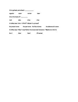Révision  Unité 5, Leçon 14_Kahoot