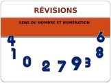 Révisions maths numération et sens du nombre 2e année