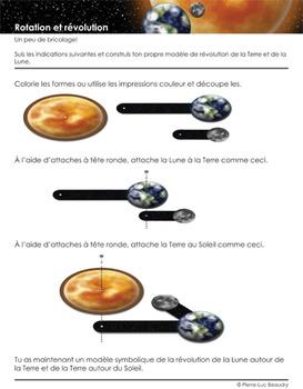 Révolution et Rotation de la Terre et de la Lune - Version française