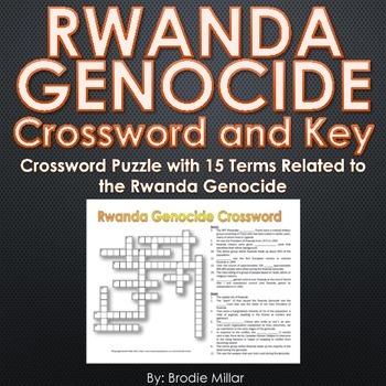 Rwanda Genocide - Crossword Puzzle and Key