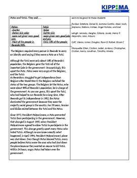 Rwanda Genocide Lesson Plan Day 3