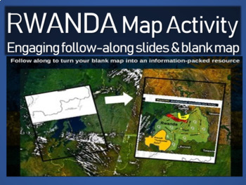 Rwanda Genocide Map Activity: Interactive, engaging follow-along 18-slide PPT