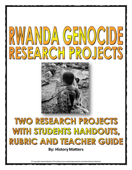 Rwanda Genocide - Two Research Projects (Imperialism and W