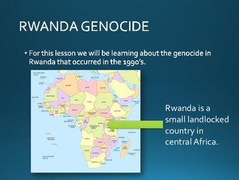 Rwanda Genocide - PowerPoint (27 Slides on Major Events)