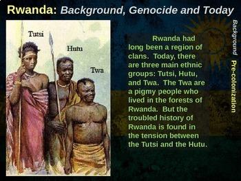 Rwanda: a comprehensive 100-slide, 4-part unit on background, genocide & more