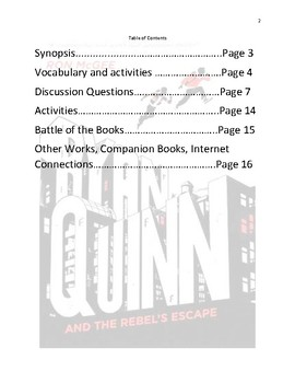 Ryan Quinn and the Rebel's Escape Study and Activity Guide
