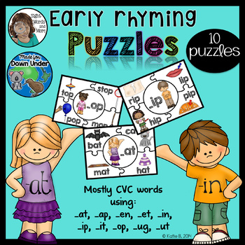 Ryming Puzzles for Early Readers A4