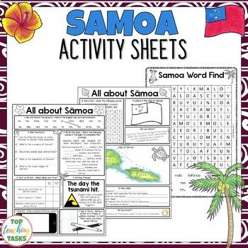 Sāmoa Activity Sheets Reading and Writing Activities