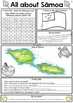 Samoa Reading and Writing Activities