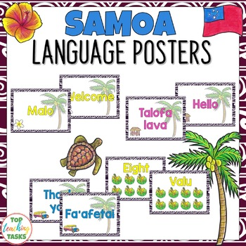 Sāmoan Greetings Introductions Farewells & Counting Classroom Display Posters
