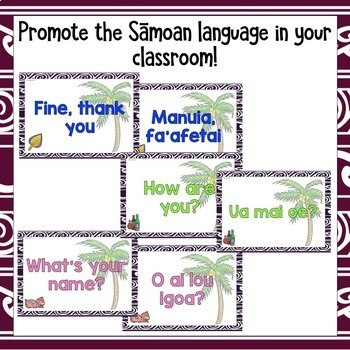 Samoan Greetings Introductions Farewells & Counting Classroom Display Posters