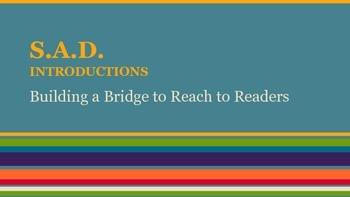 S.A.D. Introductions (A companion to R.E.A.L. Conclusions)