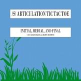 S ARTICULATION TIC TAC TOE