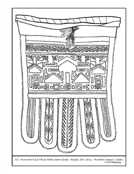 S. African Brides Apron (jocolo).  Coloring page and lesson plan ideas
