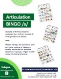 S Articulation Bundle BINGO (Initial, Medial, Final Positions)!