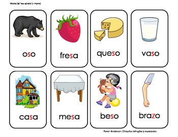 S Articulation Cards SPANISH