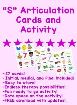 S Articulation Cards and Activity
