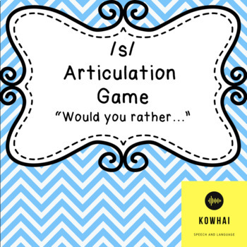 S Articulation Carryover Game