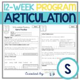 S Articulation Homework Sheets for Speech Therapy 12 Week Program