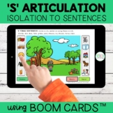 S Articulation Boom Cards™ | Isolation to Sentences | Dist