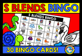 CONSONANT BLENDS ACTIVITIES (S BLENDS BINGO GAME FOR WHOLE CLASS)