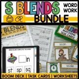 S BLENDS BUNDLE Distance Learning BOOM cards and Printable