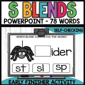 S BLENDS   EARLY FINISHER PPT