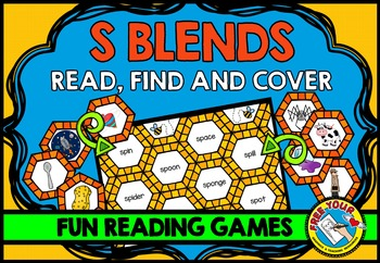 S BLENDS GAME: PHONICS READING CENTERS: BLENDS READING GAMES: BLENDS ACTIVITIES