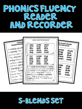 S BLENDS - Phonics Fluency Assessment