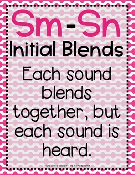 Word Work: S BLENDS - SM - SN
