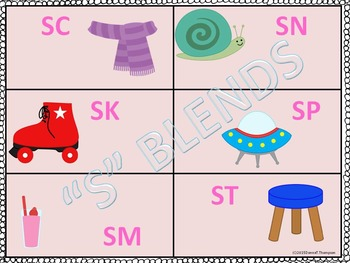 Phonics: S Blends (Sorting Game)