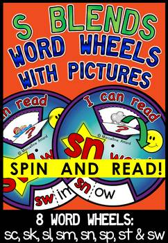S BLENDS WORD WHEELS WITH PICTURES (S BLENDS ACTIVITIES)S BLENDS READING CENTERS
