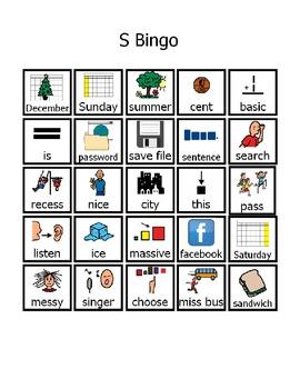 S Bingo Game