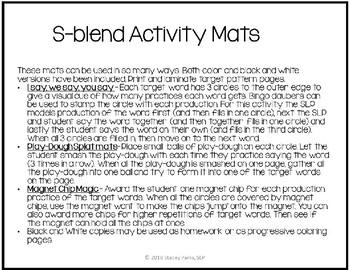 Activity Mats - S-blends