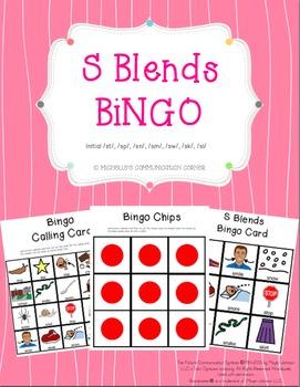 S Blends Articulation Bingo *Freebie*