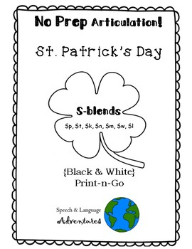S-Blend Articulation St. Patrick's Day - NO PREP [BW]