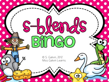 Blends Bingo - S-Blend Bingo Game