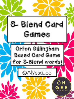 S-Blend Card Games- Orton Gillingham Aligned