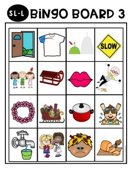 S-Blend Cluster Reduction Bingo Boards & Minimal Pairs