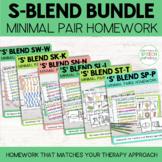 S Blend Cluster Reduction Homework BUNDLE | Minimal Pairs