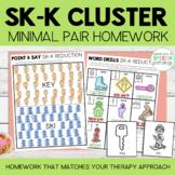 S Blend Cluster Reduction Minimal Pairs Homework | SK-K Wo
